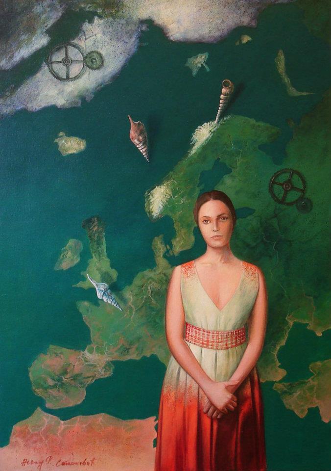 Balkanska žena, akril ulje na platnu 70 x 50 cm