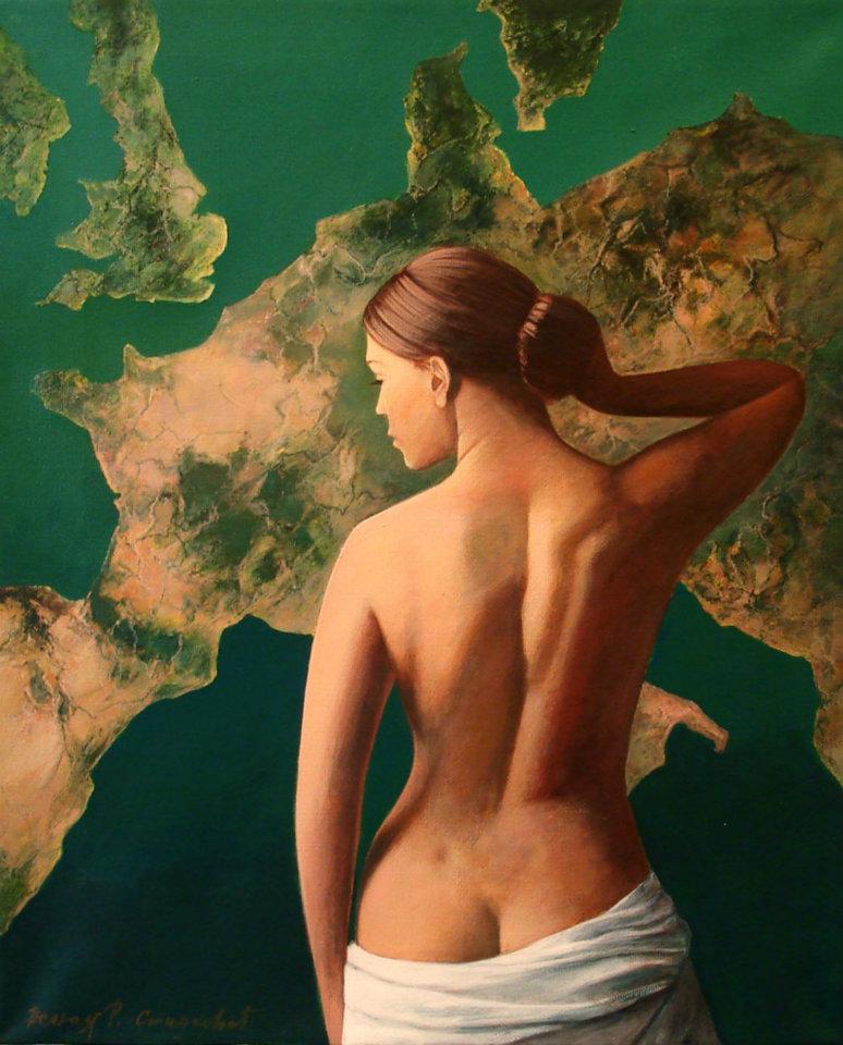 Mediteranska lepota, akril ulje na platnu 46 x 38 cm